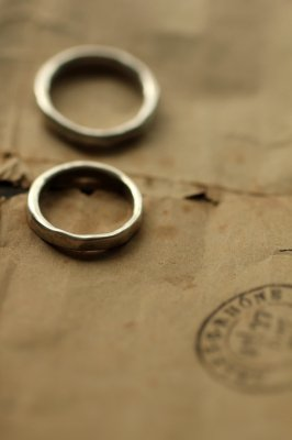 Pair Silver Ring 3mm