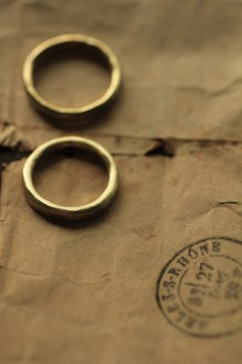 Pair Brass Round Ring 3mm