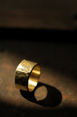 Brass Wide Flat Ring