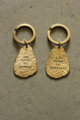 Pair Brass Tear Drop Key Holder