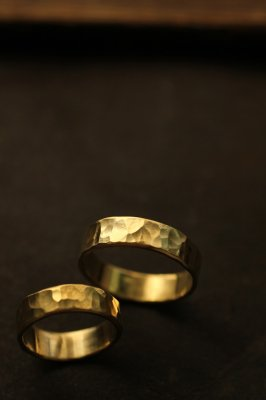 Pair Brass Flat Ring 6mm - #1