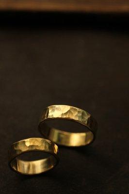 Pair Brass Flat Ring 6mm - #1