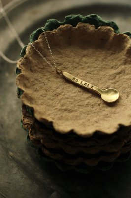 Little Brass Spoon Necklace