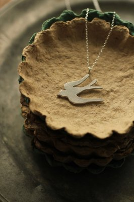 Swallow Silver Necklace