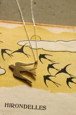 Swallow Brass Necklace