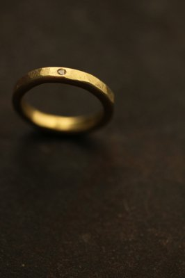 Brass Zirconia Ring 3mm