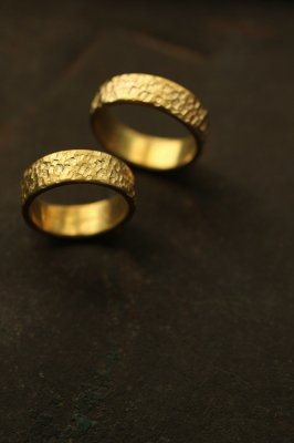 Pair Brass Flat Ring 6mm - #3