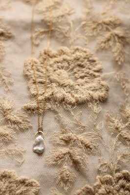 Baroque Pearl K18 Gold Necklace