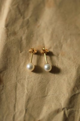 Pearl K18 Gold Pierce #1