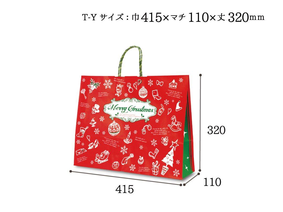 紙手提袋 T−Y アンティーク ノエル 25枚