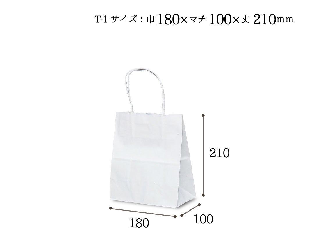 紙手提袋 T-1(白) 5枚