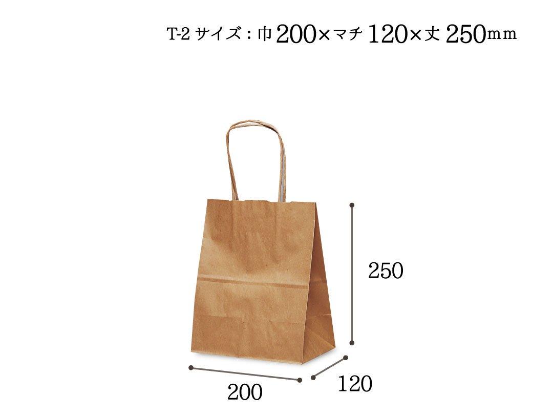 紙手提袋 T-2(茶) 5枚