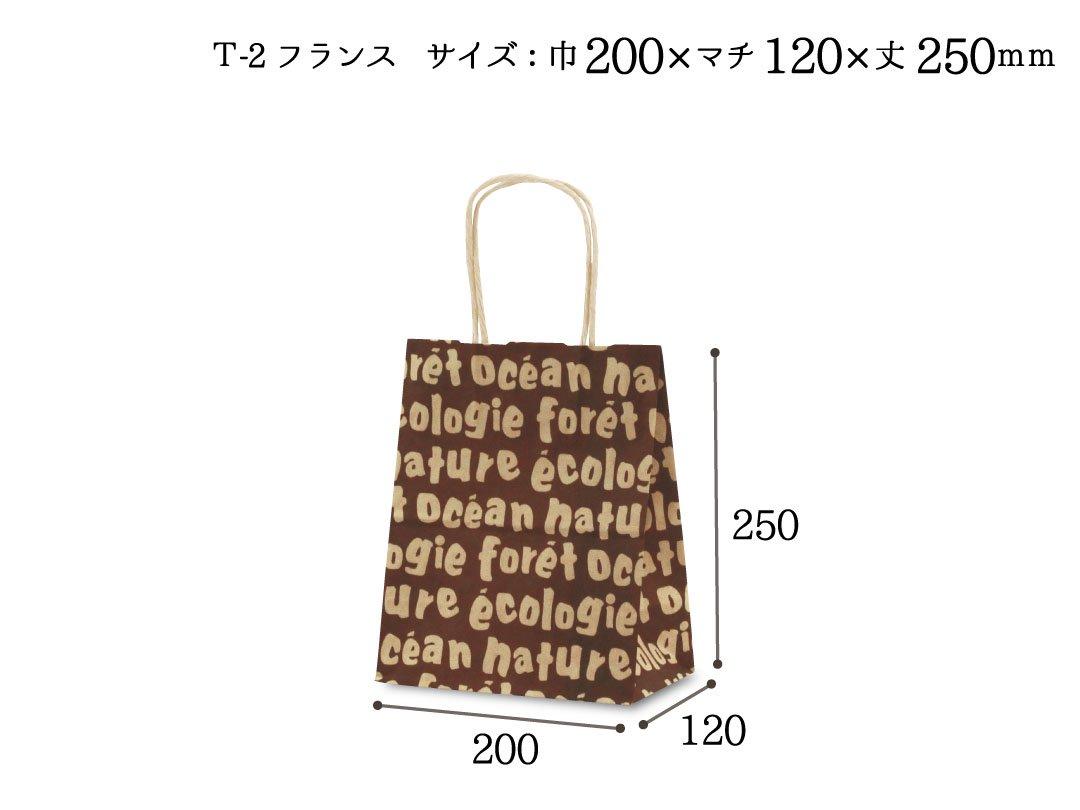 紙手提袋 T-2フランス 25枚