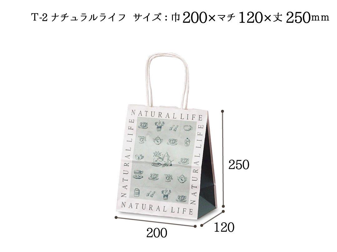 紙手提袋 T-2ナチュラルライフ 25枚