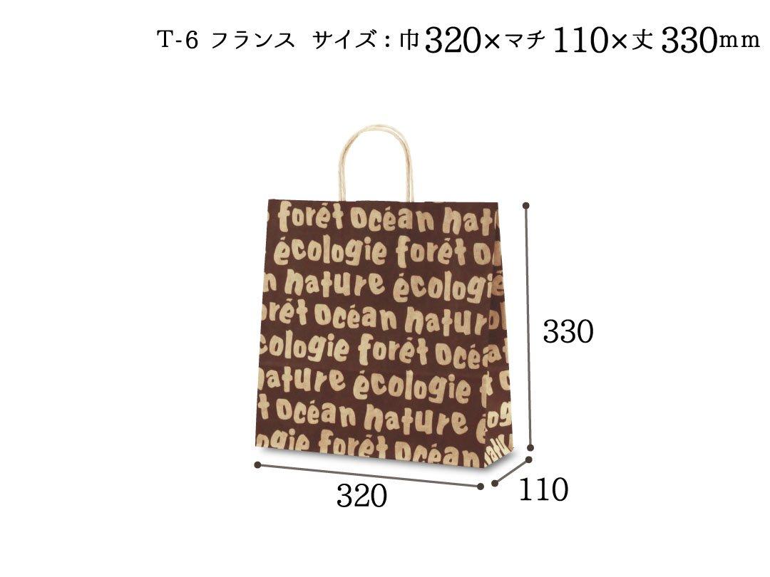 紙手提袋 T-6フランス 50枚