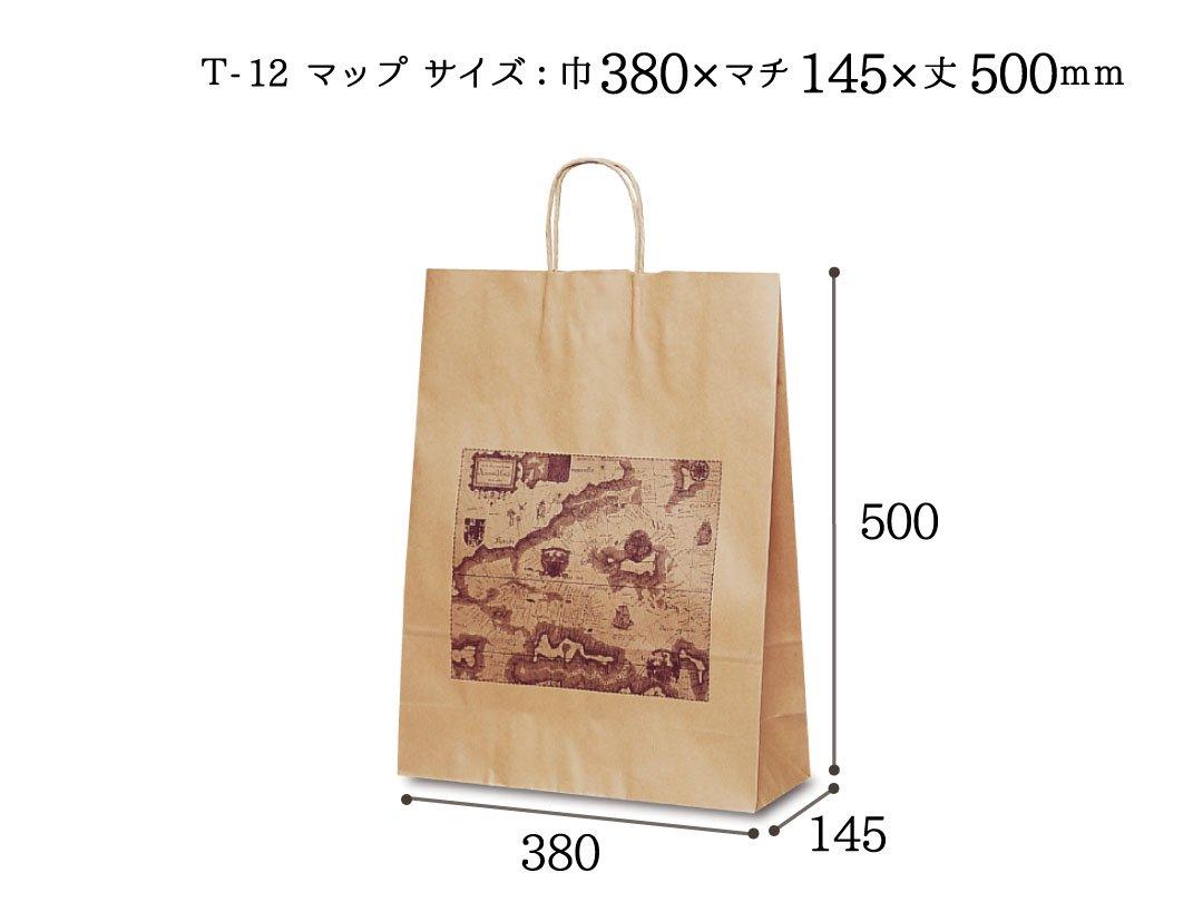 紙手提袋 T-12マップ 50枚
