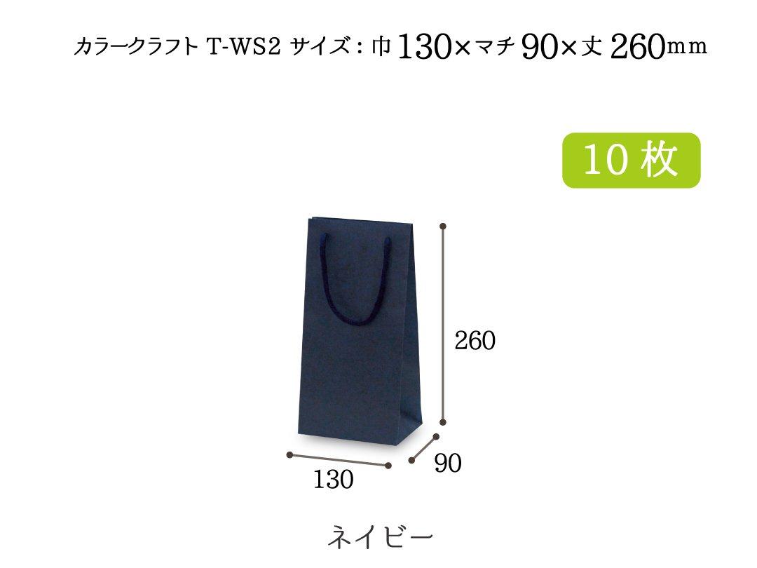 紙手提袋 T-WS2(ネイビー) 10枚