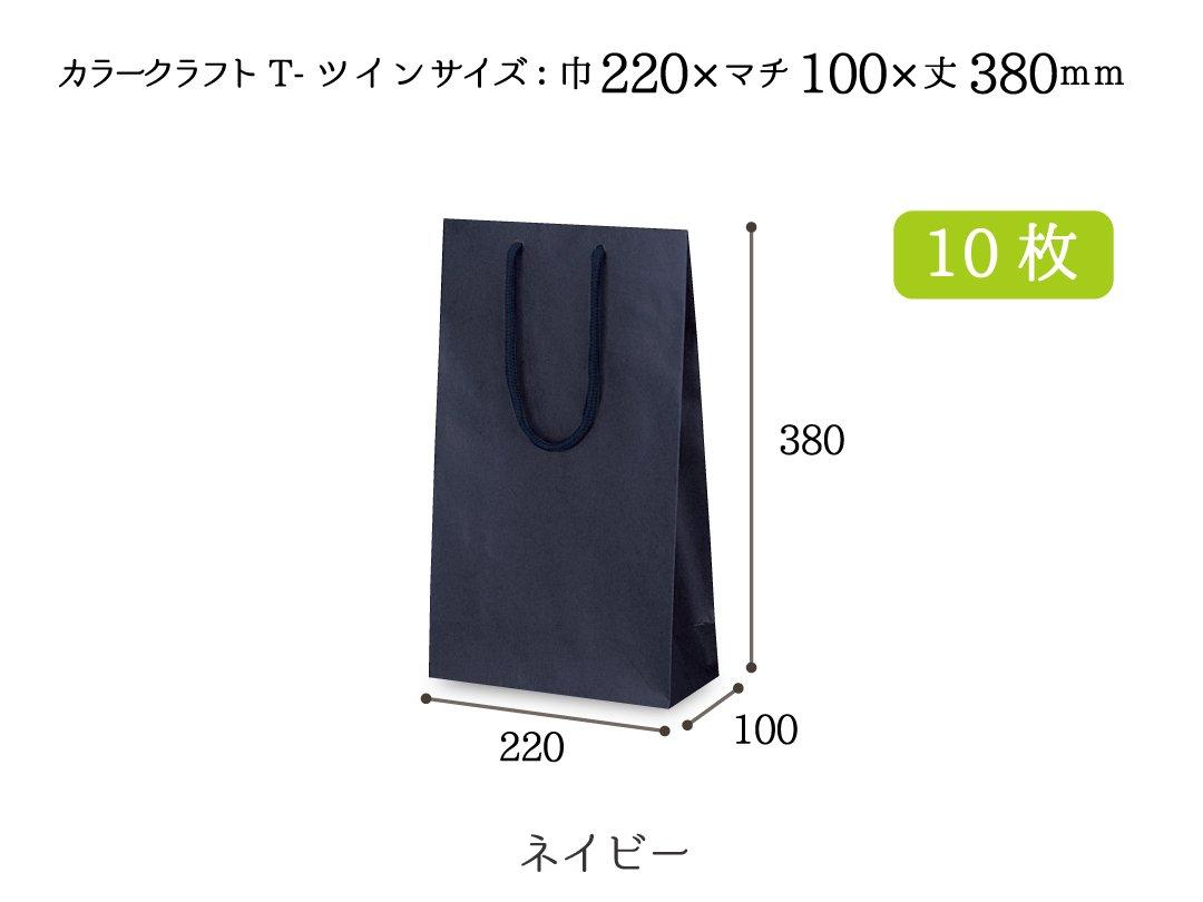 紙袋 T-ツイン(ネイビー) 10枚