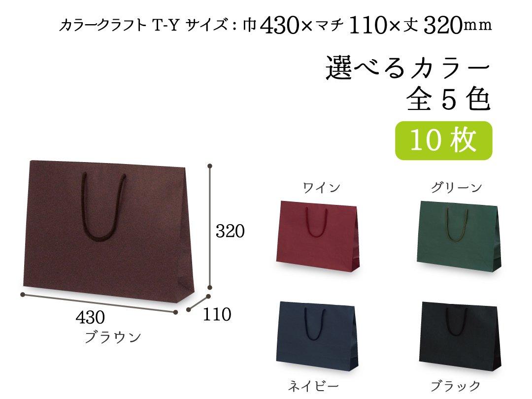 紙手提袋 T-Y カラークラフト 10枚