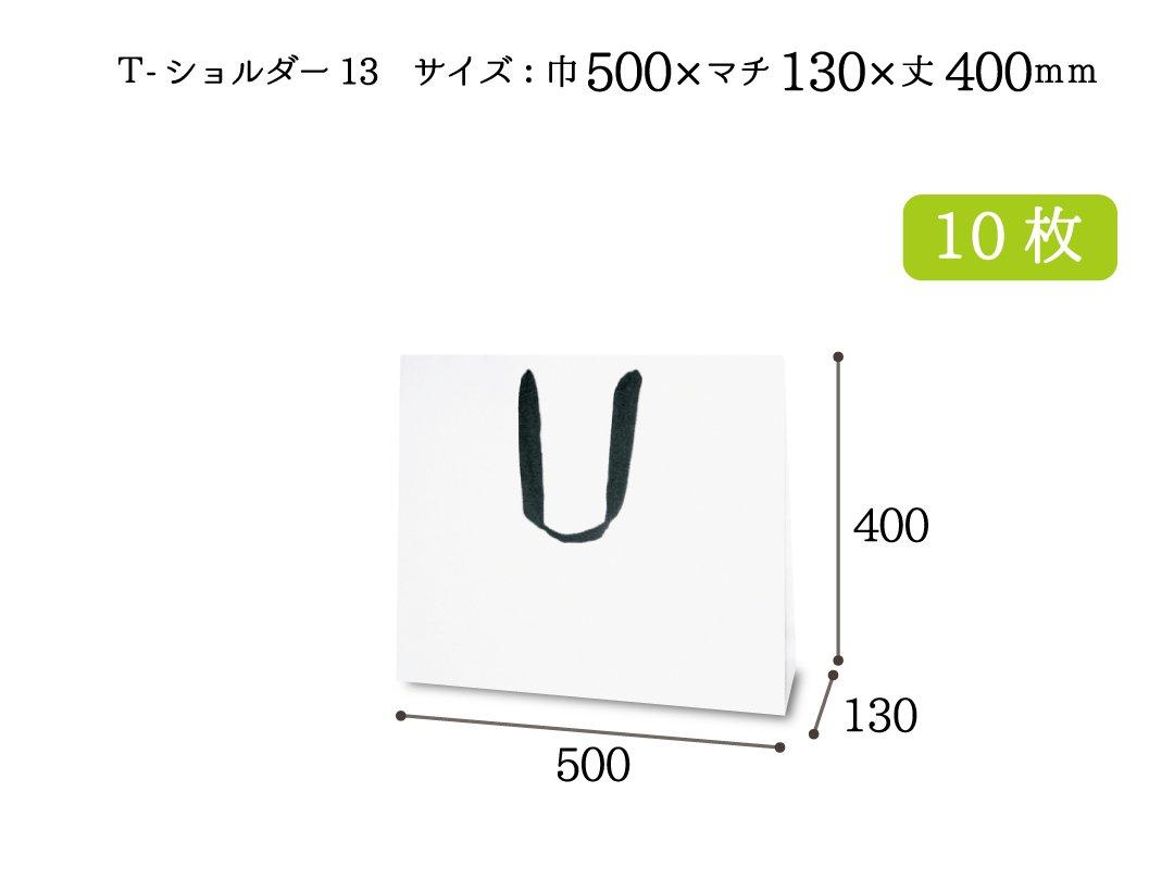 紙手提袋 T-ショルダー13(白) 10枚