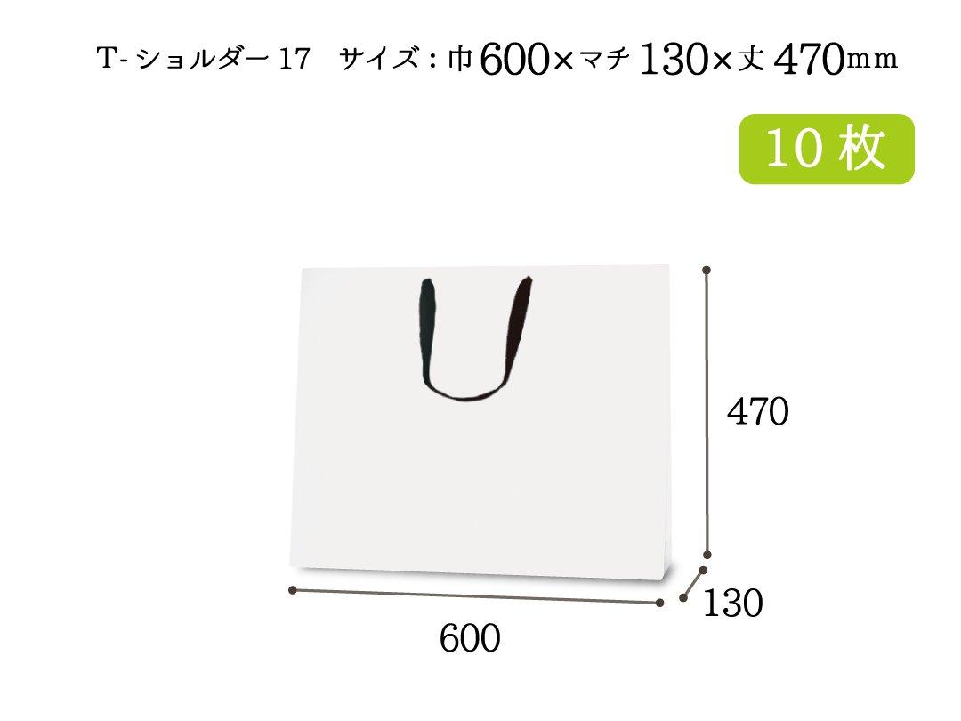 紙手提袋 T-ショルダー17(白) 10枚