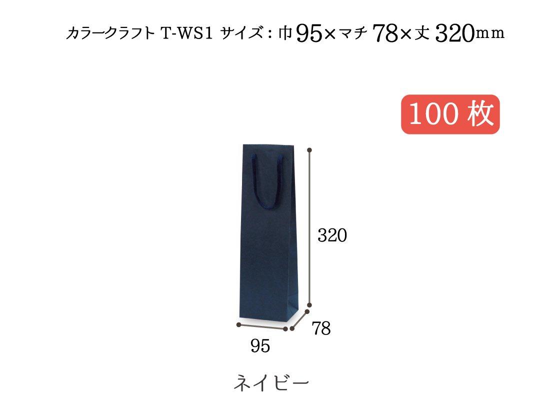 紙袋 T-WS1(ネイビー) 100枚