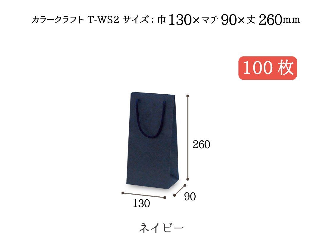 紙袋 T-WS2(ネイビー) 100枚