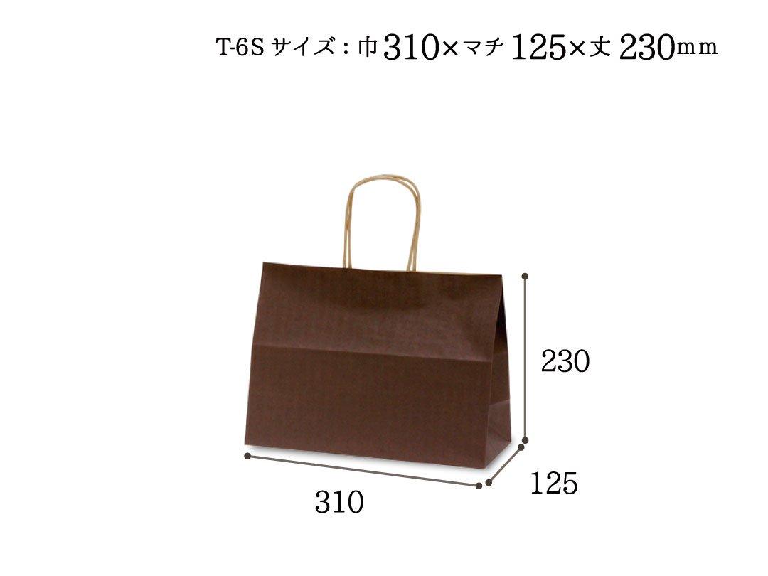 紙袋 T-6S カラー(カカオ)