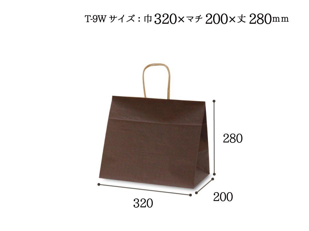 紙袋 T-9W カラー(カカオ)