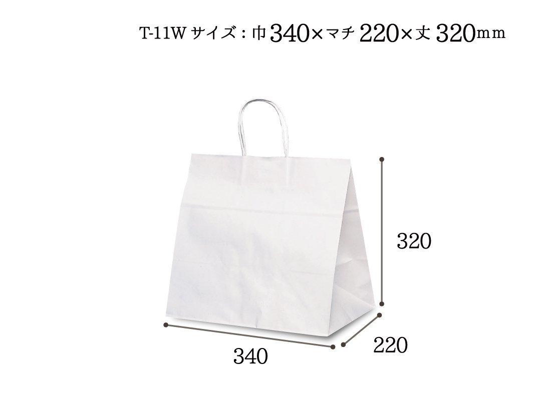 紙袋 T-11W 白無地