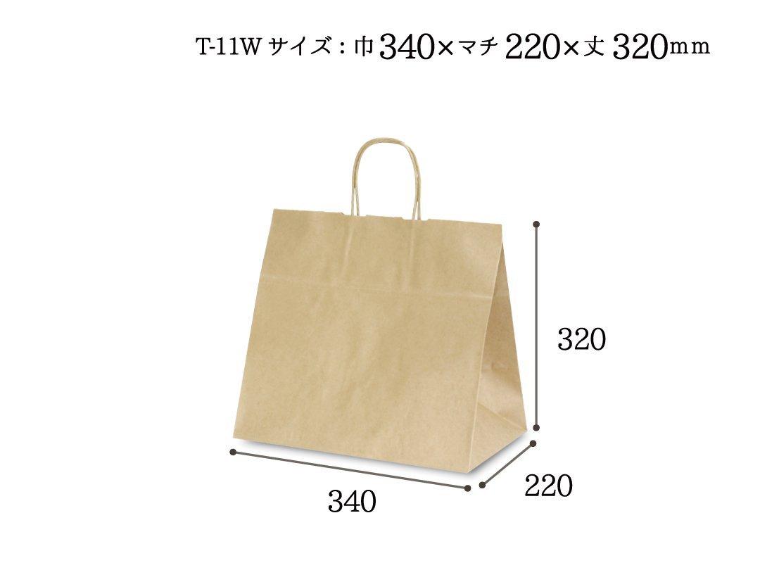 紙袋 T-11W 茶無地