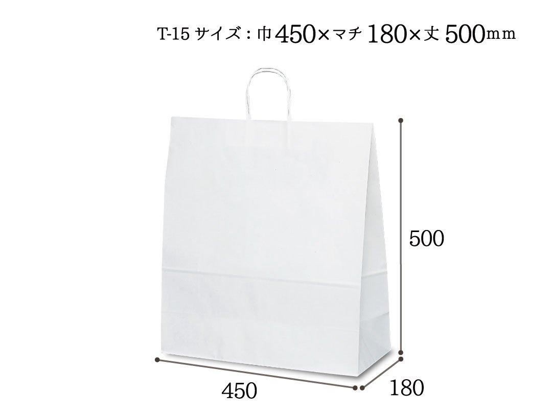 紙袋 T-15 白無地
