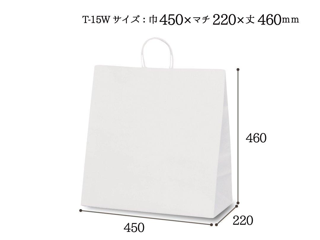 紙袋 T-15W 白無地