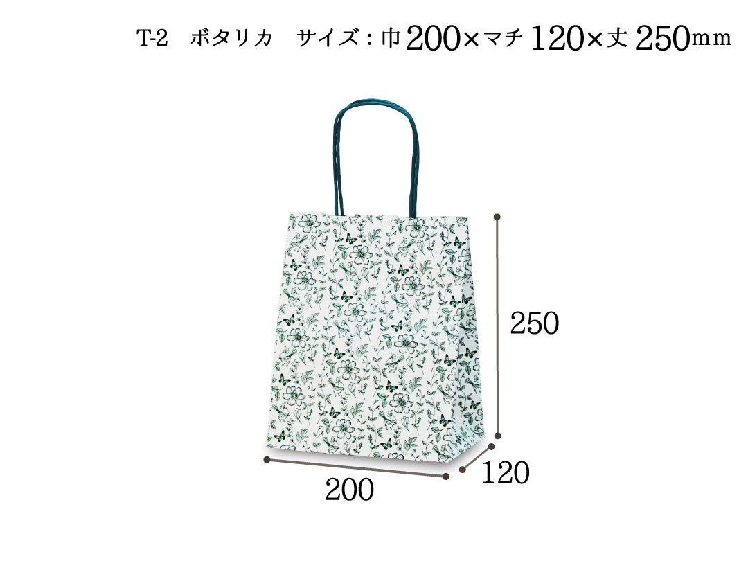 紙手提袋 T-2 ボタリカ 25枚