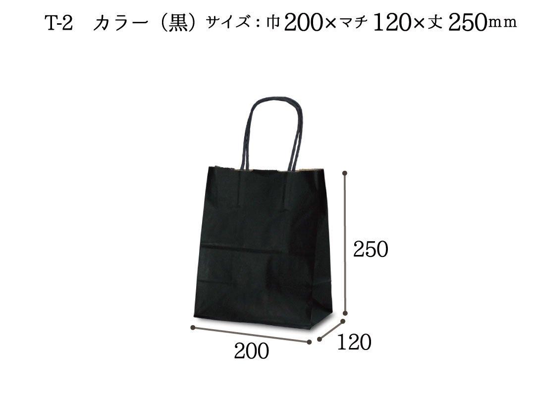 紙袋 T-2 カラー(黒)
