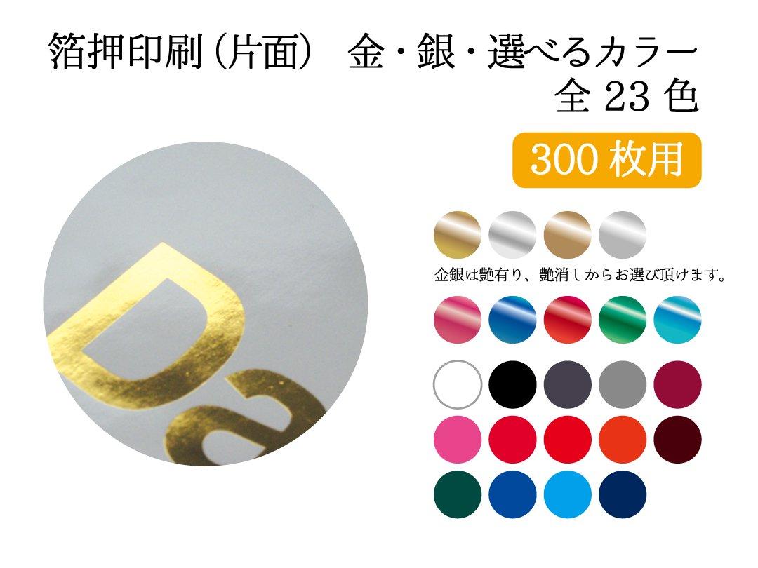 紙袋 セミオーダー(箔押片面印刷) 300枚