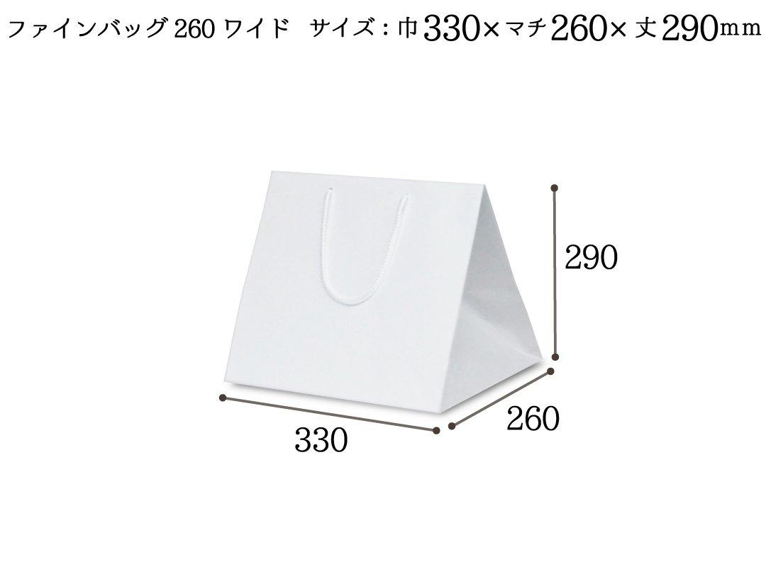 紙袋 ファインバッグ260ワイド 10枚
