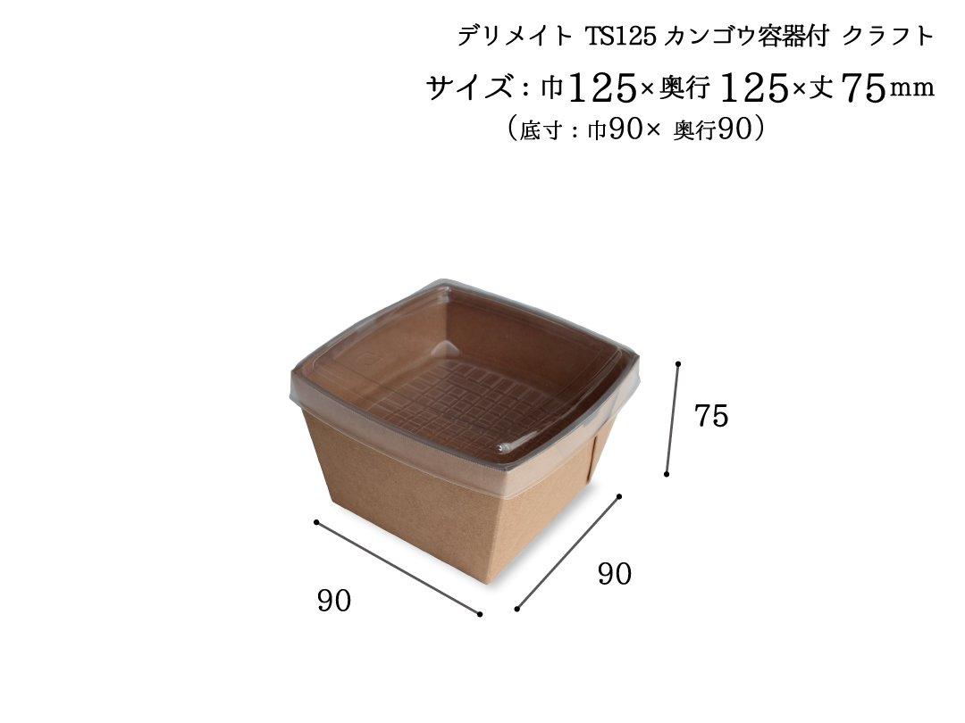 DMプライム TS125カンゴウ容器付 クラフト