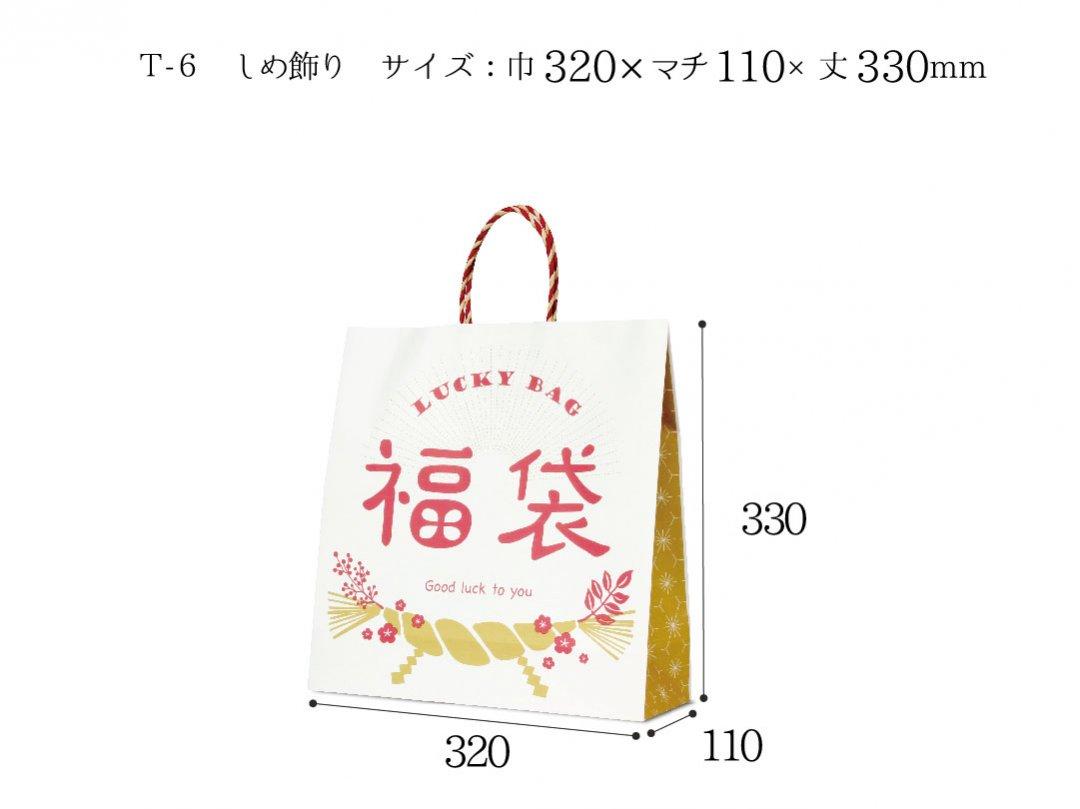 <img class='new_mark_img1' src='https://img.shop-pro.jp/img/new/icons13.gif' style='border:none;display:inline;margin:0px;padding:0px;width:auto;' />紙袋 T-6 しめ飾り