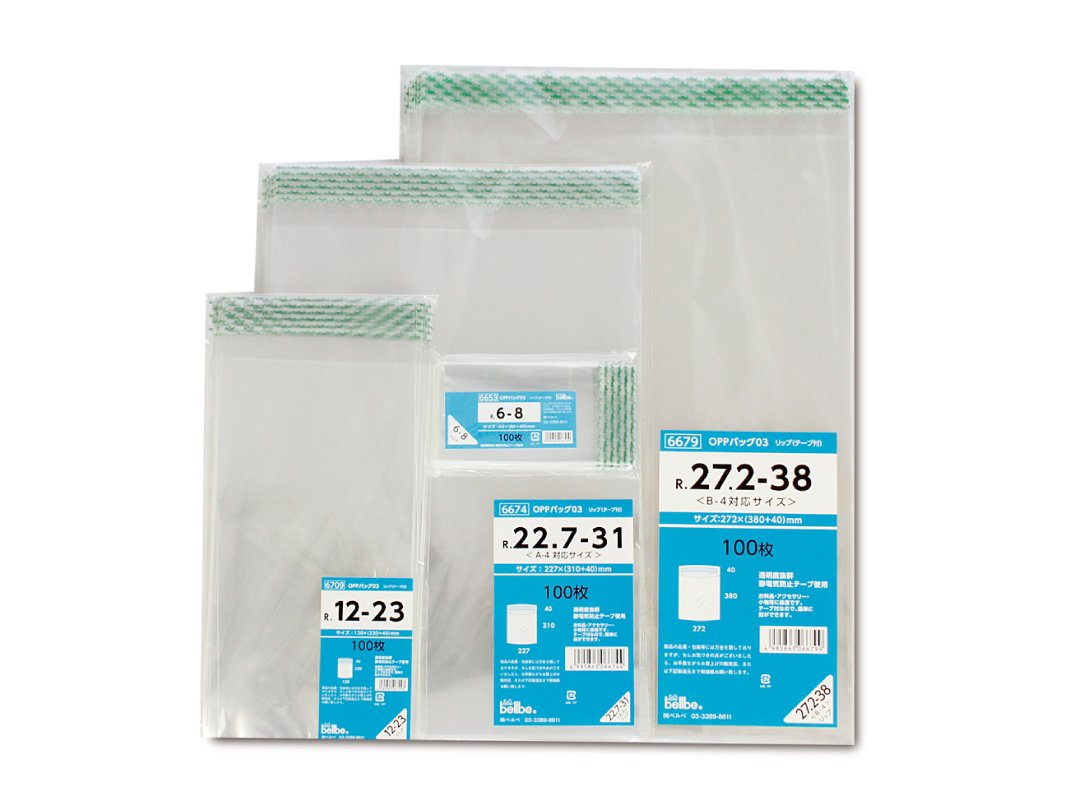 OPP袋03(シール付) R25.5-38 1,000枚入
