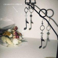 音楽モチーフ・イヤリング片耳販売(8分音符)