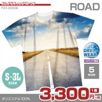 ROAD【フルグラフィックTシャツ】 カジュアル フルカラー ドライ素材 格安