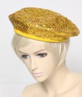 スパンコールベレー帽