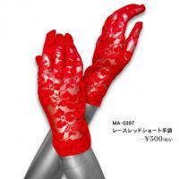 レースレッドショート手袋