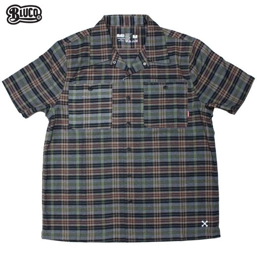 BL-010 Work Shirts S/S -P.Check-<img class='new_mark_img2' src='https://img.shop-pro.jp/img/new/icons50.gif' style='border:none;display:inline;margin:0px;padding:0px;width:auto;' />