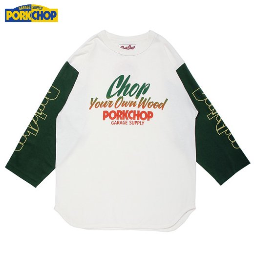 PC-125 Chop Your Own Wood Baseball Tee<img class='new_mark_img2' src='//img.shop-pro.jp/img/new/icons50.gif' style='border:none;display:inline;margin:0px;padding:0px;width:auto;' />