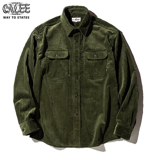 CALEE L/S Corduroy Plane Shirt<img class='new_mark_img2' src='https://img.shop-pro.jp/img/new/icons50.gif' style='border:none;display:inline;margin:0px;padding:0px;width:auto;' />