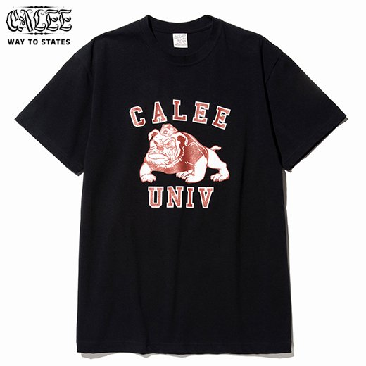 CALEE Bull Dog T-Shirt<img class='new_mark_img2' src='https://img.shop-pro.jp/img/new/icons6.gif' style='border:none;display:inline;margin:0px;padding:0px;width:auto;' />