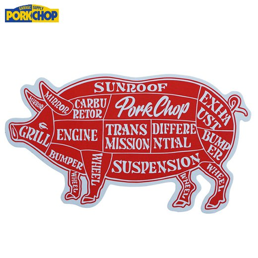 PORKCHOP Pork Sticker <img class='new_mark_img2' src='https://img.shop-pro.jp/img/new/icons7.gif' style='border:none;display:inline;margin:0px;padding:0px;width:auto;' />