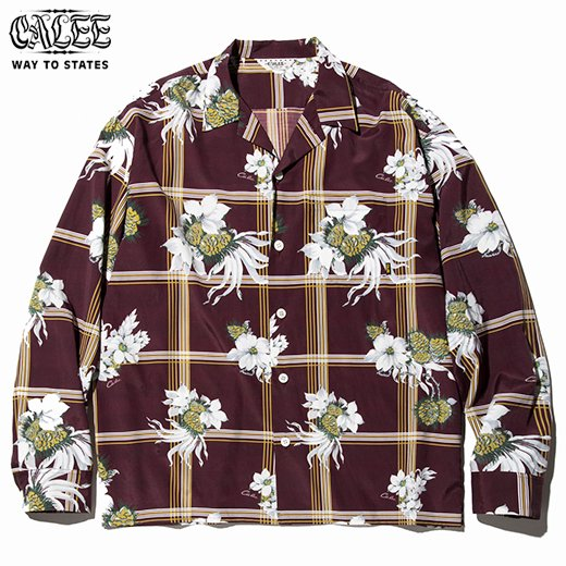 CL-499 Flower check mix pattern L/S shirt